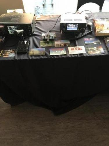 There was a lot of interest in the QSL card we brought down to the show